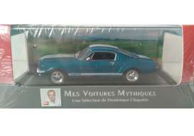 Ford  - Mustang Shelby 350GT 1966 blue metallic/white stripes - 1:43 - Magazine Models - magAT350gt | Tom's Modelauto's