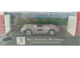 Porsche  - 550 Spyder #130 1955 silver metallic/red - 1:43 - Magazine Models - AT550 - magAT550 | Tom's Modelauto's
