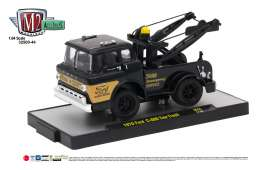 M2 Machines - Ford  - M2-32500-44F : 1970 Ford C-600 Tow Truck, gloss black/gold stripe