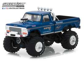 Ford  - F250 Monster Truck 1974 blue - 1:64 - GreenLight - 29934 - gl29934 | Tom's Modelauto's