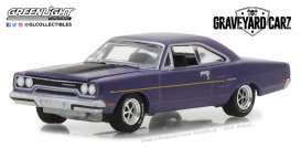 Plymouth  - Road Runner 1970 plum crazy - 1:64 - GreenLight - gl44800D | Tom's Modelauto's