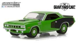 Plymouth  - Cuda 1971 green - 1:64 - GreenLight - gl44800E | Tom's Modelauto's