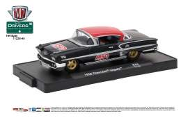 Chevrolet  - 1958 gloss black/red - 1:64 - M2 Machines - M2-11228-44B | Tom's Modelauto's