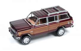 Jeep  - 1981 dark cherry metallic/wood grai - 1:64 - Johnny Lightning - CG001B4 - JLCG001B4 | Toms Modelautos