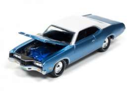 Mercury  - 1971 Medium Blue Metallic - 1:64 - Johnny Lightning - MC002B7 - JLMC002B7 | Tom's Modelauto's