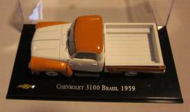 Chevrolet  - 1959 orange/white - 1:43 - Magazine Models - magChevy3100-59 | Tom's Modelauto's