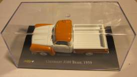 Chevrolet  - 1959 orange/white - 1:43 - Magazine Models - Chevy3100-59 - magChevy3100-59 | Toms Modelautos
