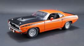 Plymouth  - 1970 vitamin c orange/ black - 1:18 - Acme Diecast - acme1806106 | Tom's Modelauto's