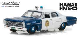 Ford  - Custom Police 1967 blue/white - 1:64 - GreenLight - gl44800A | Tom's Modelauto's