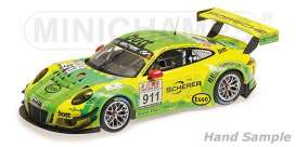 Porsche  - 2017 yellow/green - 1:18 - Minichamps - 155176991 - mc155176991 | Tom's Modelauto's