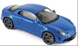 Norev - Renault Alpine - nor185148 : 2017 Renault Alpine A110 premiere edition, blue metallic