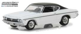 Chevrolet  - 1968 dover white/black - 1:64 - GreenLight - gl13210B | Tom's Modelauto's