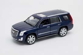Cadillac  - Escalade 2017 blue - 1:24 - Welly - welly24084b | Tom's Modelauto's