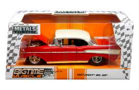 Jada Toys - Chevrolet  - jada98944 : 1957 Chevrolet Bel Air, red/white