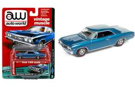 Chevrolet  - 1967 blue - 1:64 - Auto World - 64132A - AW64132A | Tom's Modelauto's