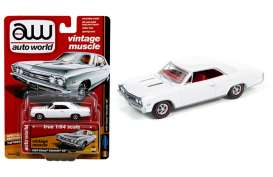 Chevrolet  - 1967 white - 1:64 - Auto World - 64132B - AW64132B | Tom's Modelauto's
