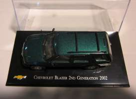 Chevrolet  - 2002 green - 1:43 - Magazine Models - magChevyBlazer | Tom's Modelauto's