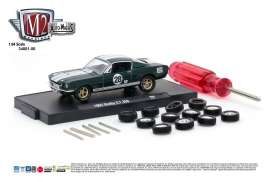 M2 Machines - Shelby  - M2-34001-06D : 1965 Shelby G.T. 350, ivy green metallic w/bright white stripes