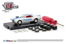 M2 Machines - Dodge  - M2-34001-06F : 1968 Pontiac Firebird 400 H.O, bright white w/blue stripe