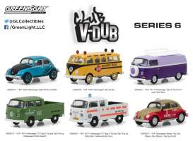 GreenLight - Assortment/ Mix  - gl29890~12 : 1/64 Club V-DUB Series 6 Assortment of 12