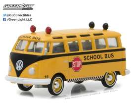 Volkswagen  - 1964 yellow/black - 1:64 - GreenLight - gl29890B | Tom's Modelauto's