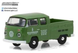 GreenLight - Volkswagen  - gl29890D : 1975 Volkswagen Type 2 Crew Cab Pick-Up, green