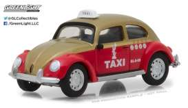 GreenLight - Volkswagen  - gl29890F : 1/64 Volkswagen Beetle - Mexico City Taxi, red/brown