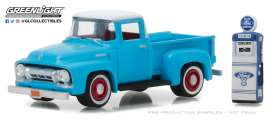 Ford  - F-100 1954 light blue/white - 1:64 - GreenLight - gl97030A | Tom's Modelauto's