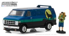 GMC  - Vandura 1981 blue/green/black - 1:64 - GreenLight - 97030C - gl97030C | Tom's Modelauto's