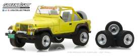 Jeep  - YJ 1991 yellow - 1:64 - GreenLight - gl97030D | Tom's Modelauto's