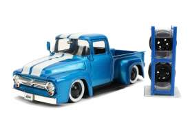 Ford  - F-100 pick-up 1956 blue/white - 1:24 - Jada Toys - 31541 - jada31541 | Toms Modelautos