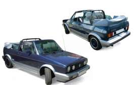 Norev - Volkswagen  - nor188404 : 1992 Volkswagen Golf Cabriolet *Bel Air*, blue metallic