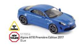 Norev - Renault  - nor517856 : 2017 Alpine A110 Premiëre Edition, blue