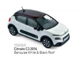 Citroen  - 2016 banquise white/black roof - 1:43 - Norev - nor155265 | Tom's Modelauto's