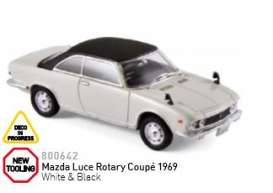 Mazda  - Luce Rotary Coupé 1969 white/black - 1:43 - Norev - nor800642 | Tom's Modelauto's