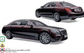 Mercedes Benz  - 2017  ruby black metallic - 1:18 - Norev - nor183483 | Tom's Modelauto's