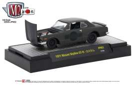 Nissan  - Skyline 2000 GT-R 1971 frozen black pearl with gloss  - 1:64 - M2 Machines - M2-32500JPN02B | Tom's Modelauto's