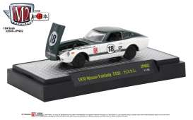 Nissan  - Fairlady Z432 RHD 1970  white/darkgreen metallic top  - 1:64 - M2 Machines - M2-32500JPN02D | Tom's Modelauto's