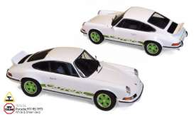 Porsche  - 911 RS 1973 white/green - 1:18 - Norev - nor187636 | Tom's Modelauto's