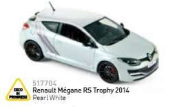 Norev - Renault  - nor517704 : 2014 Renault Mégane RS Trophy, pearl white