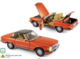 Mercedes Benz  - 1986 inca red - 1:18 - Norev - 183467 - nor183467 | Tom's Modelauto's