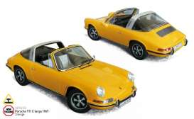 Porsche  - 911 E Targa 1969 orange - 1:18 - Norev - nor187633 | Tom's Modelauto's