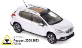 Peugeot  - 2013 white - 1:43 - Norev - nor479820 | Tom's Modelauto's