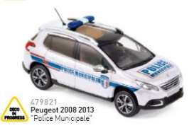 Peugeot  - 2013 white - 1:43 - Norev - nor479821 | Tom's Modelauto's