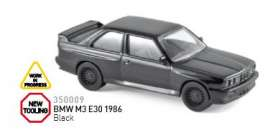 BMW  - 1986 black - 1:43 - Norev - nor350009 | Tom's Modelauto's