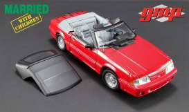 GMP - Ford  - gmp18904 : 1988 Ford Mustang 5.0 Convertible *Married with Children (1987-97 TV Series)*, red with grey interior