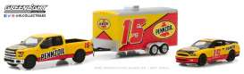 Ford Shelby - F-150 yellow/red - 1:64 - GreenLight - gl31050C | Tom's Modelauto's