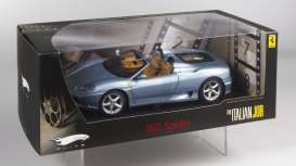 Hotwheels Elite - Ferrari  - hwmvp9905*1 : 2001 Ferrari 360 Spider *Italian Job 2* by Paramount picture's, grey allow