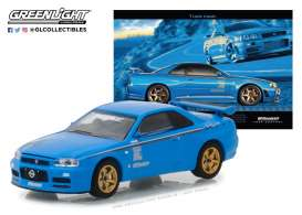 Nissan  - Skyline GT-R R34 2001  - 1:64 - GreenLight - 29944 - gl29944 | Tom's Modelauto's