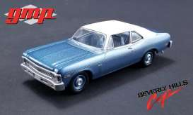 Chevrolet  - Nova 1970 blue with white roof - 1:43 - GMP - gmp14308 | Tom's Modelauto's